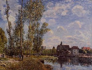 Alfred Sisley - Moret, Blick von der Loing, May Nachmittag