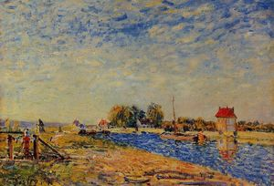 Alfred Sisley - morgen sonne , saint-mammes