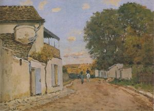 Alfred Sisley - Princesse straße in louveciennes