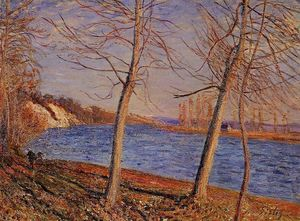 Alfred Sisley - Riverbank an Veneux