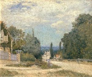 Alfred Sisley - route von louveciennes