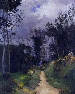 Alfred Sisley - Rural Gardist in der Fountainbleau Wald