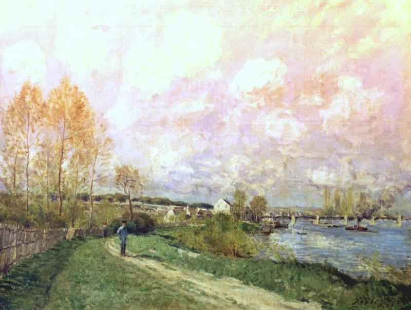 Sommer bei Bougival, 1876 von Alfred Sisley (1839-1899, France) | WahooArt.com