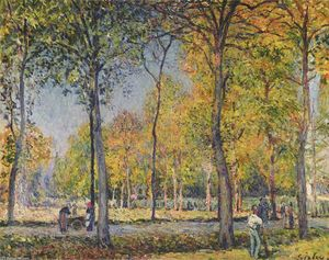 Alfred Sisley - der wald bei boulogne