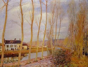 Alfred Sisley - Der Loing Canal bei  Mehr t
