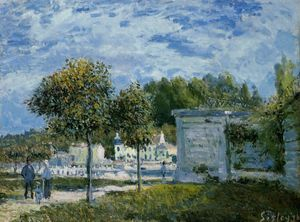 Alfred Sisley - Die Wasserstelle in Marly