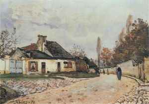 Alfred Sisley - Voisins-Straße in Louveciennes