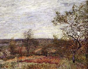 Alfred Sisley - Windy Day At Veneux