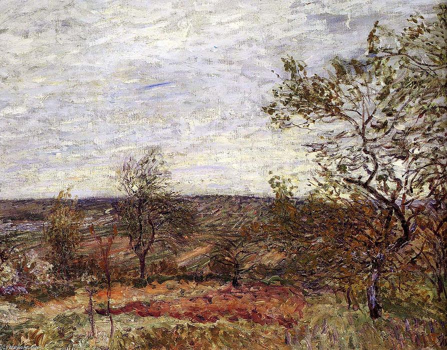 Windy Day At Veneux, 1882 von Alfred Sisley (1839-1899, France) | WahooArt.com