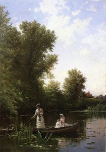 Alfred Thompson Bricher - boating` in der nachmittag