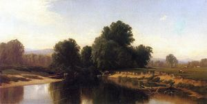 Alfred Thompson Bricher - Rinder von der  fluss