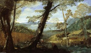 Annibale Carracci - flusslandschaft
