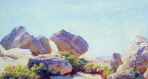 Charles Courtney Curran - Boulders Bear Cliff