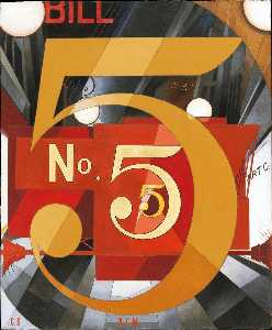 Charles Demuth - Ich gesehen die figur 5 in gold ( hommage an william carlos williams )