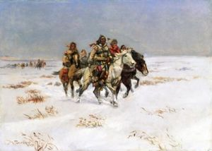 Charles Marion Russell - der schnee Spur