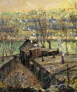 Ernest Lawson - The Pigeon Coop