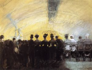 Everett Shinn - Hintere Reihe, Follies Bergere