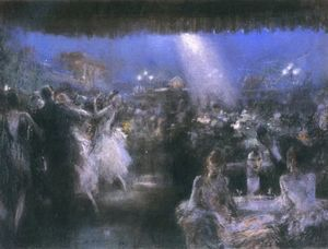 Everett Shinn - Rooftop Cafe