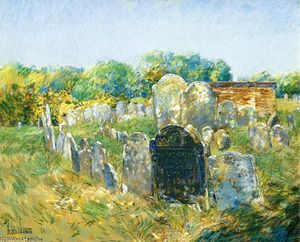 Frederick Childe Hassam - Colonial Friedhof in Lexington