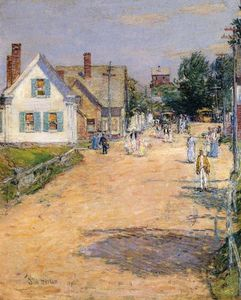 Frederick Childe Hassam - East Gloucester, End of Line-Trolly