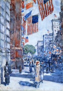 Frederick Childe Hassam - Flaggen, Fifth Avenue