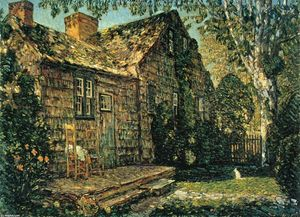 Frederick Childe Hassam - Little Old Cottage, Ägypten Lane, East Hampton