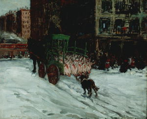 George Benjamin Luks - The Butcher Wagen