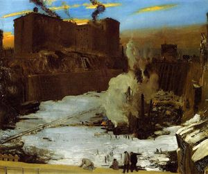 George Wesley Bellows - Pennsylvania Station Aushub