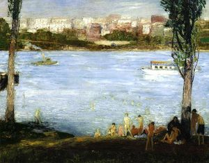 George Wesley Bellows - sommer stadt
