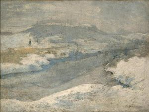 John Henry Twachtman - Fluss im Winter