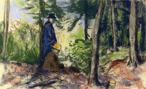 Robert Henri - Sketchers in der wald 1