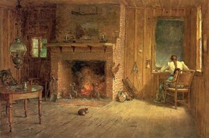 Thomas Worthington Whittredge - das club house sitting room in balsam lake , Catskills