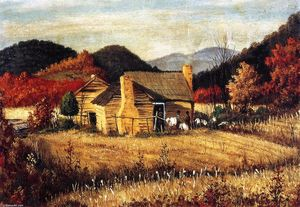 William Aiken Walker - North Carolina Mountains mit Homestead and Field