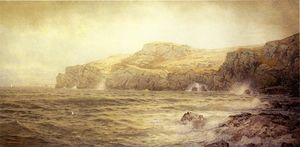 William Trost Richards - conanicut island von gray cliff , Newport