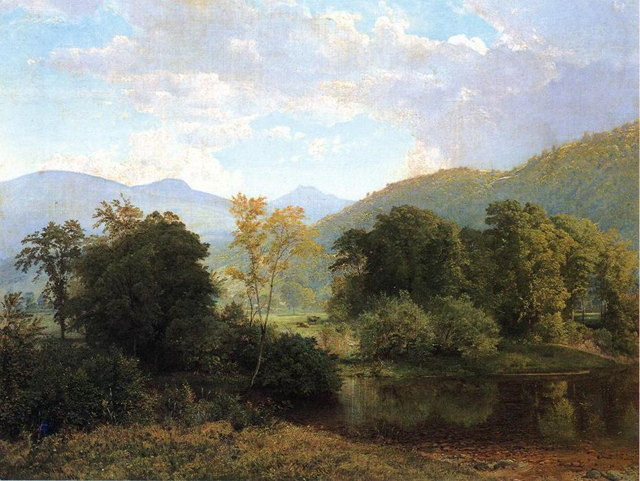 Deleware Tal, öl auf leinwand von William Trost Richards (1833-1905, United States)