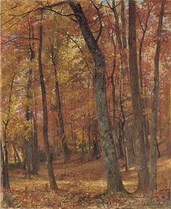 William Trost Richards - wald inneres 2