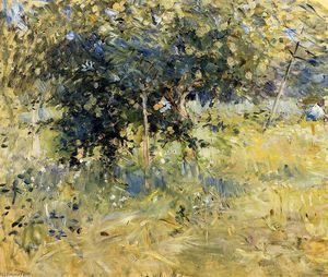 Berthe Morisot - Willows im Garten bei Bougival