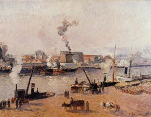 Camille Pissarro - Foggy Morning, Rouen