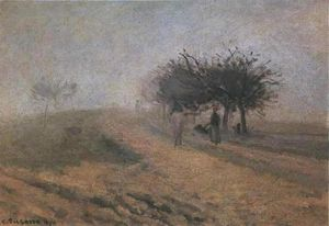 Camille Pissarro - Misty Morning in Creil