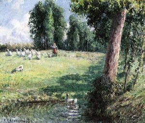 Camille Pissarro - The Goose Girl-