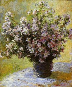 Claude Monet - Blumenstrauß aus Mallows