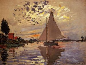 Claude Monet - Segelboot in Le Petit-Gennevilliers