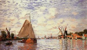 Claude Monet - Die Zaan in Zaandam