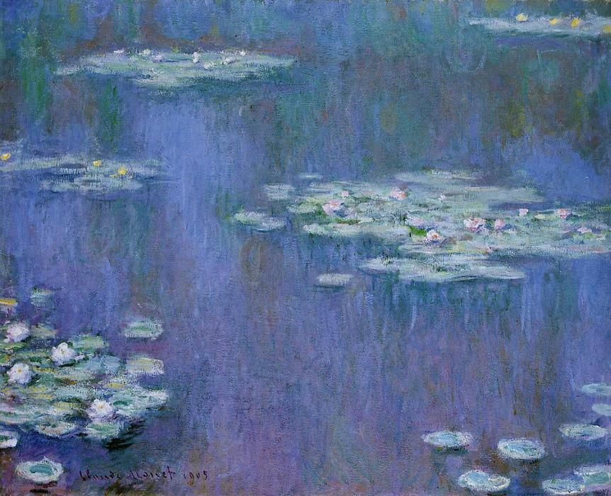 Water-Lilies 13 von Claude Monet (1840-1926, France) | WahooArt.com