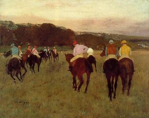Edgar Degas - Rennpferde in Longchamp 1