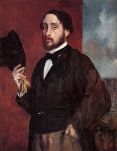 Edgar Degas - Self Portrait Salutieren