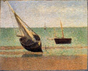 Georges Pierre Seurat - boote gering  flut  Grand