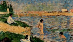Georges Pierre Seurat - Study for Ein Badeplatz in Asnières