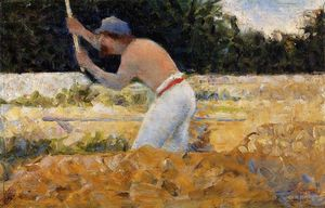 Georges Pierre Seurat - The Stone Breaker 3