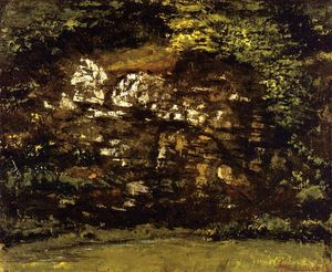 Gustave Courbet - im wald